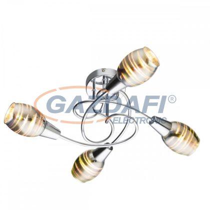GLOBO 54349-4 Eric Mennyezeti lámpa , 40W , E14 , króm , 3D hatású üveg