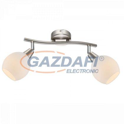 GLOBO 54351-2 ELLIOTT Mennyezeti lámpa ,  LED 3W , 2x E14 , 3000 K , 2x 160 Lm , nikkel matt , króm , üveg