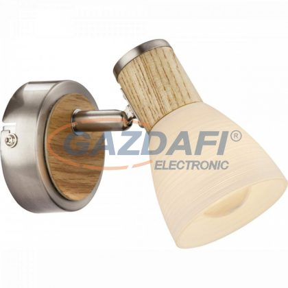 GLOBO 54352-1 GYLFI Fali lámpa, 40W , E14 , faipari , nikkel matt , üveg