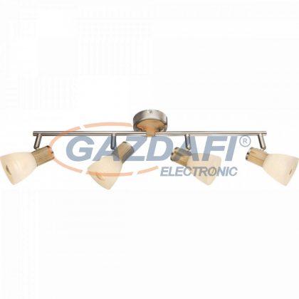 GLOBO 54352-4 GYLFI Mennyezeti lámpa  , 40W , 4x E14 , faipari , nikkel matt , üveg