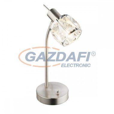 GLOBO 54356-1T KRIS Asztali lámpa  , 40W , E14 , nikkel matt, króm, üveg kristály