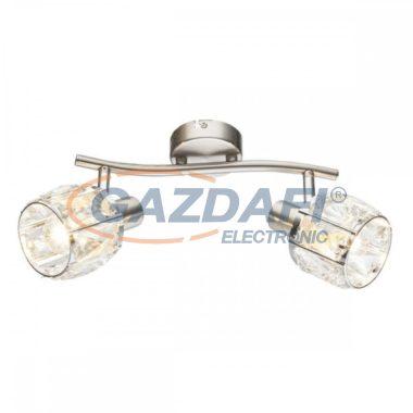 GLOBO 54356-2  KRIS Mennyezeti lámpa , 40W , 2x E14 , nikkel matt, króm, üveg kristály