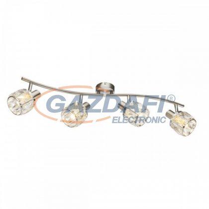 GLOBO 54356-4 KRIS Mennyezeti lámpa , 40W , 4x E14 , nikkel matt, króm, üveg kristály