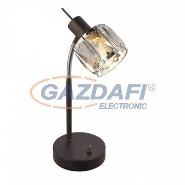 GLOBO 54357-1T INDIANA Asztali lámpa ,40W  , E14 , bronz , króm , füstös hatású üveg kristály