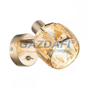 GLOBO 54358-1 MERO Mennyezeti lámpa , 40W , E14 , antik arany , sárgaráz , üveg kristály , borostyán
