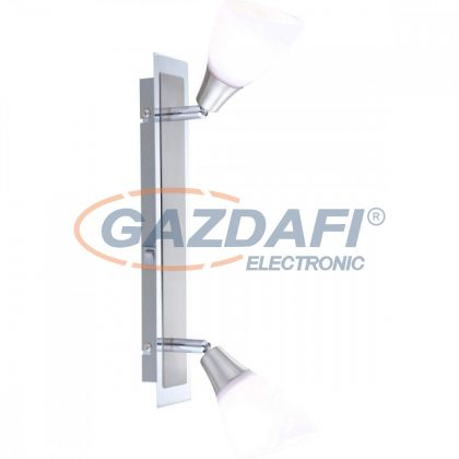 GLOBO 5450-2 FRANK Mennyezeti lámpa  , 40W ,  2x E14 , króm , nikkel matt, üveg