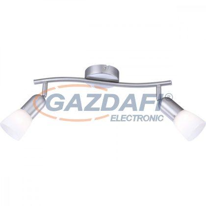 GLOBO 5453-2 CATHY Mennyezeti lámpa , 40W , 2x E14 , 230V , nikkel matt , üveg
