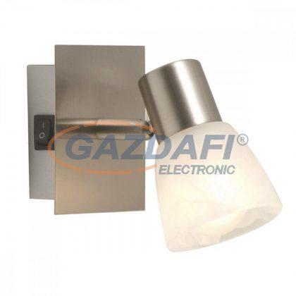GLOBO 54530-1 PARRY Fali lámpa , 40W , E14 , nikkel matt , üveg