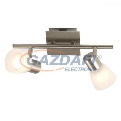 GLOBO 54530-2 PARRY Mennyezeti lámpa , 40W , 2x E14  , nikkel matt  , üveg
