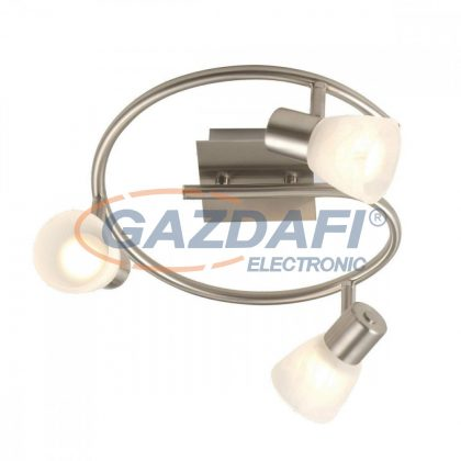 GLOBO 54530-3 PARRY Mennyezeti lámpa , 40W , 3x E14 , nikkel matt , üveg