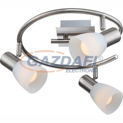 GLOBO 54534-3 Parry I Mennyezeti lámpa ,  LED 4W ,  3x E14 , 3000 K , 3x 315 Lm , nikkel matt , üveg