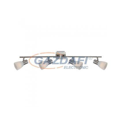 GLOBO 54534-4 Parry I Mennyezeti lámpa , LED 4W , 4x E14 , 3000 K , 4x 315 Lm , nikkel matt , üveg