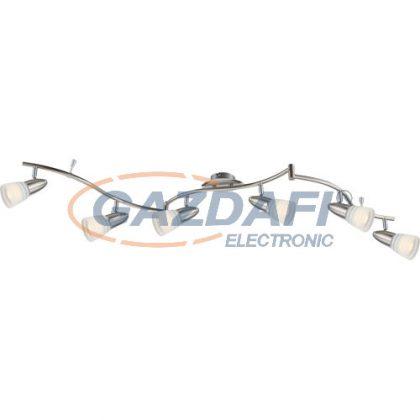 GLOBO 54536-6 Caleb Mennyezeti lámpa ,   LED 4W ,  6x E14 , 3000 K , 6x 350 Lm , króm , nikkel matt , üveg