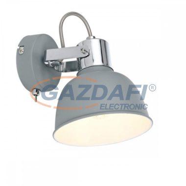 GLOBO 54640-1 GERDA  Fali lámpa , 25W , E14 , matt szürke , króm