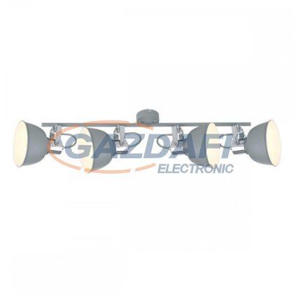 GLOBO 54640-4 GERDA Mennyezeti lámpa, 25W , 4x E14  , matt szürke , króm