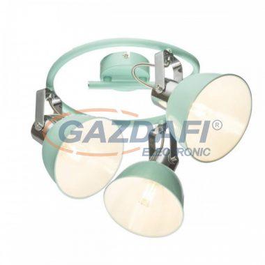 GLOBO 54641-3 ROLI Mennyezeti lámpa, 25W , 3x E14 , menta , króm