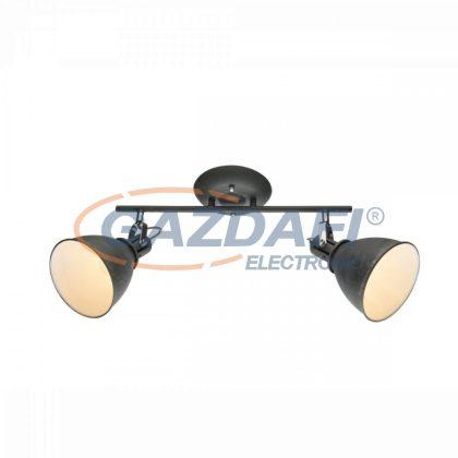 GLOBO 54646-2 Jonas Mennyezeti lámpa , 40W , 2x E14 , szürke , króm ,  fém fehér