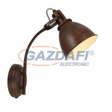GLOBO 54647-1W GIORGIO Fali lámpa , 40W , E14 , rozsda hatású , fém fehér