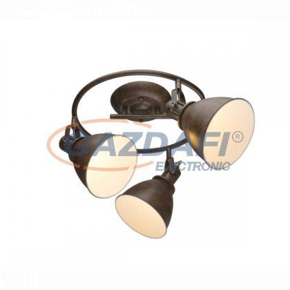 GLOBO 54647-3 Giorgio Mennyezeti lámpa , 40W , 3x E14 , rozsda hatású, fém fehér