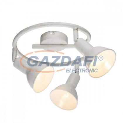GLOBO 54648-3  Caldera Mennyezeti lámpa , 40W ,  3x E14 , fém fehér , arany lencsével