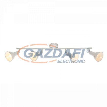 GLOBO 54648-4 Caldera Mennyezeti lámpa , 40W , 4x E14 , fém fehér , arany lencsével