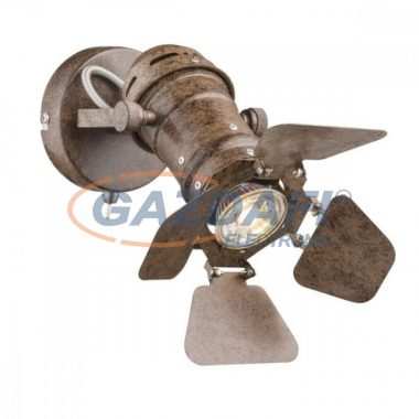 GLOBO 54650-1 EGON Fali lámpa , 50W , GU10 , rozsda hatású