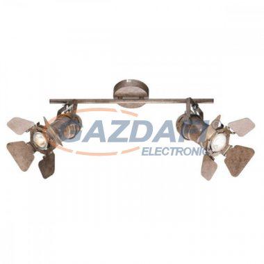 GLOBO 54650-2 EGON Mennyezeti lámpa , 50W , 2x GU10 , rozsda hatású