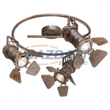 GLOBO 54650-3 EGON Mennyezeti lámpa , 50W ,  3x GU10 , rozsda hatású