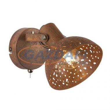 GLOBO 54652-1 CELINE Fali lámpa , 25W , E14 , rozsda hatású