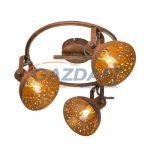 GLOBO 54652-3 CELINE Mennyezeti lámpa , 25W ,  3x E14 , rozsda hatásu
