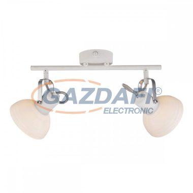 GLOBO 54657-2 AMORY Mennyezeti lámpa , 40W , 2x E14 , fém fehér , króm , üveg