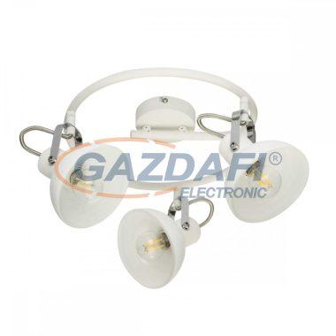 GLOBO 54657-3 AMORY Mennyezeti lámpa , 40W , 3x E14 , fém fehér , króm , üveg