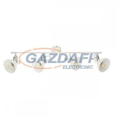 GLOBO 54657-4 AMORY Mennyezeti lámpa  , 40W , 4x E14 , fém fehér , króm , üveg