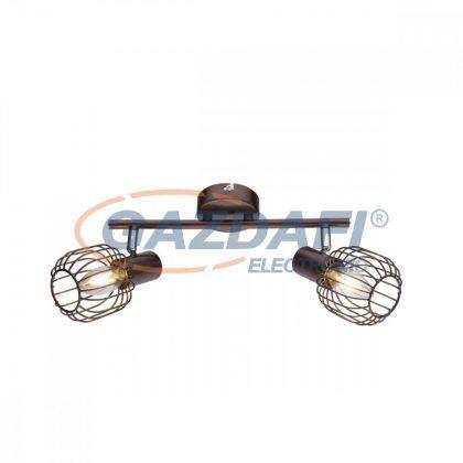 GLOBO 54801-2 Akin Mennyezeti lámpa , 40W ,  2x E14 , bronz , króm