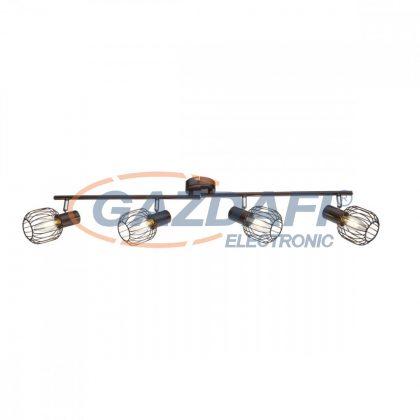 GLOBO 54801-4 Akin Mennyezeti lámpa , 40W ,  4x E14 , bronz , króm