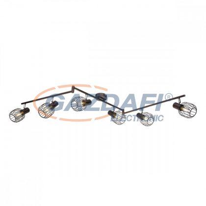 GLOBO 54801-6 Akin Mennyezeti lámpa , 40W ,  6x E14 , bronz  , króm