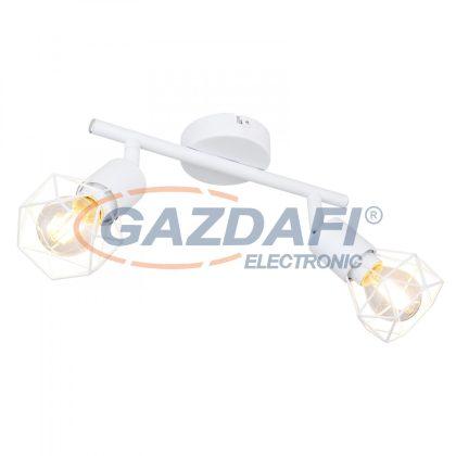 GLOBO 54802W-2 XARA I Spotlámpa fém fehér, rácsból font búrával. HxSZxM:220x80x180, exkl. 2xE14 40W 230V
