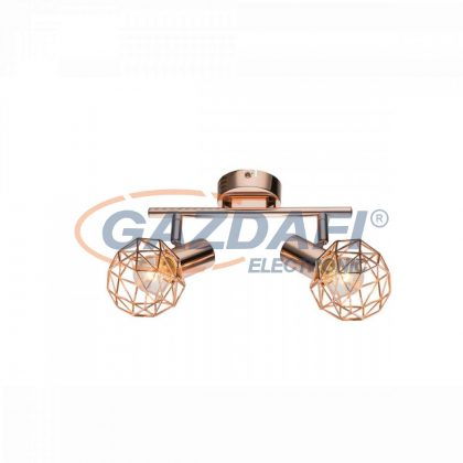 GLOBO 54805-2 XARA Mennyezeti lámpa , 40W ,  2x E14 , réz