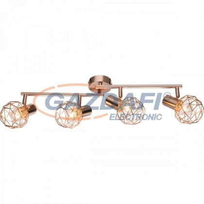 GLOBO 54805-4 XARA Mennyezeti lámpa , 40W ,  4x E14 , réz
