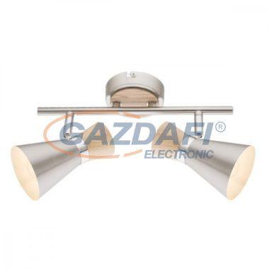 GLOBO 54807-2 AERON Mennyezeti lámpa , 25W ,  2x E14 , faipari , nikkel matt , króm