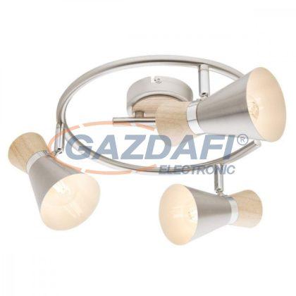 GLOBO 54807-3 AERON Mennyezeti lámpa, 25W , 3x E14 , fairpari , nikkel matt , króm