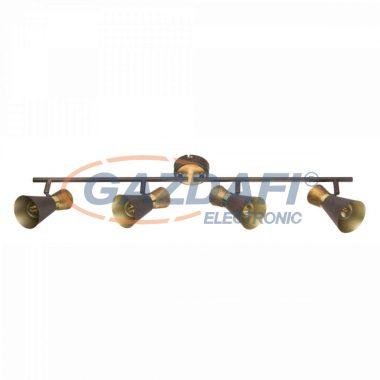 GLOBO 54808-4 MAREI Mennyezeti lámpa , 25W ,  4x E14  , rozsda hatású , sárgaréz, antik arany , fa