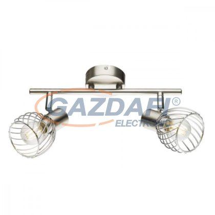 GLOBO 54809-2  TEXAS Mennyezeti lámpa40W , 2x E14 , nikkel matt , króm
