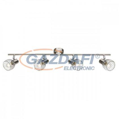 GLOBO 54809-4 TEXAS Mennyezeti lámpa, 40W , 4x E14 , nikkel matt , króm