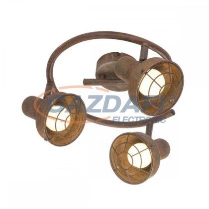 GLOBO 54810-3 TYCHO  Mennyezeti lámpa , 15W ,  3x E14 , rozsda hatású