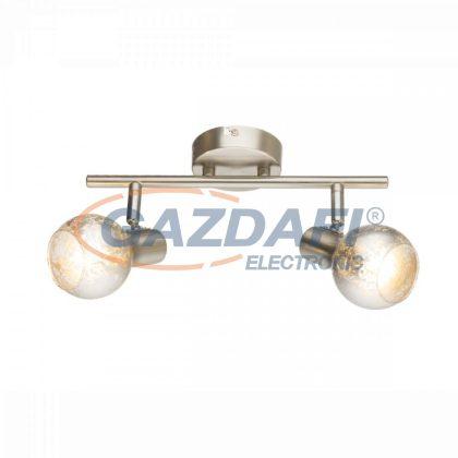 GLOBO 54840-2 Zacate  Mennyezeti lámpa , 25W ,  2x E14 , nikkel matt , króm , üveg