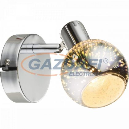 GLOBO 54845-1 KOBY Fali lámpa , 40W , E14 , króm , 3D hatású üveg