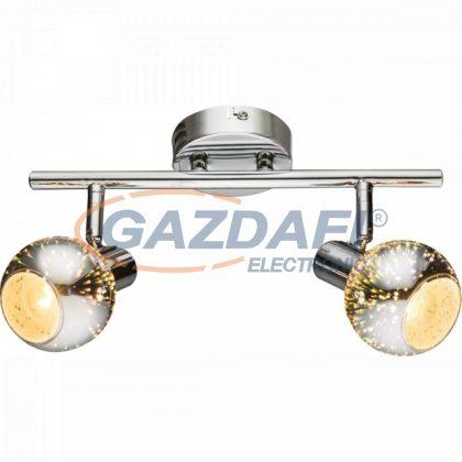 GLOBO 54845-2 KOBY Menynezeti lámpa , 40W , 2x E14 , króm , 3D hatású üveg