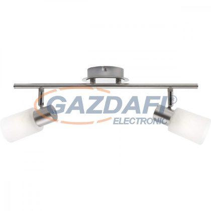 GLOBO 54913-2 KATI Mennyezeti lámpa , 40W ,  2x E14 , króm , nikkel matt , üveg