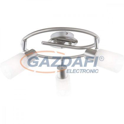 GLOBO 54913-3 KATI Mennyezeti lámpa  , 40W , 3x E14 , króm , nikkel matt , üveg